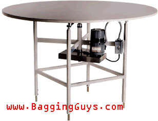 Accumulation Table Conveyor Rotary Accumulation Table - Packing Station - www.BaggingGuys.com