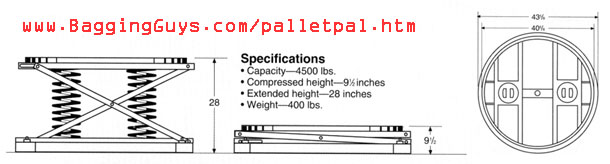 PalletPal Dimensions Drawing